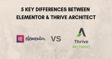Five Key Differences Between Elementor and Thrive Architect
