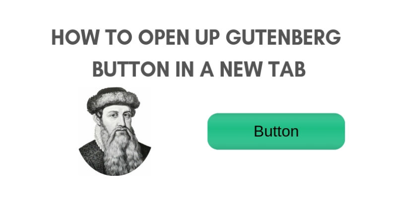 How to open up gutenberg button in a new tab