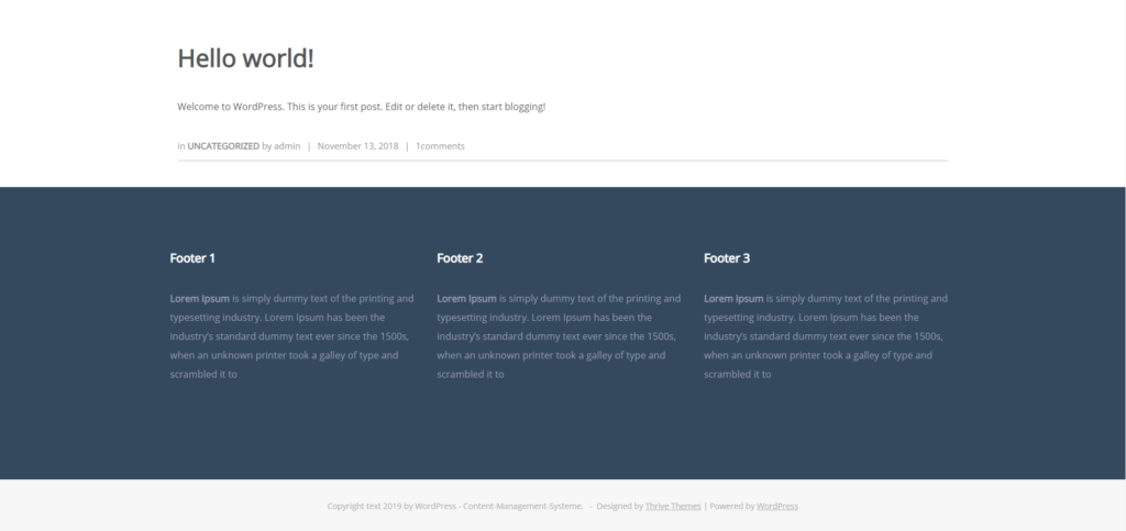 Thrive Theme Ignition default footer color