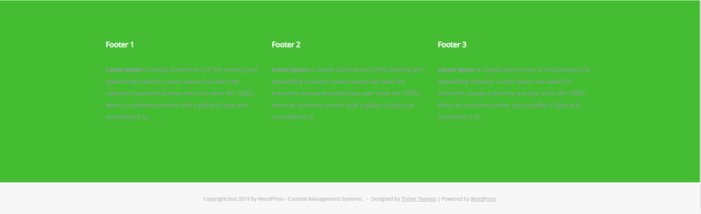 Changing Thrive Themes footer background color