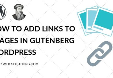 How to add link to an image in Gutenberg , WordPres