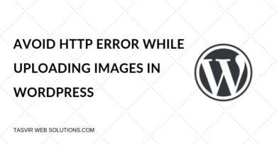 Avoid HTTP Error while uploading images in WordPress