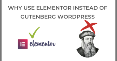 Why use Elementor instead of Gutenberg WordPress