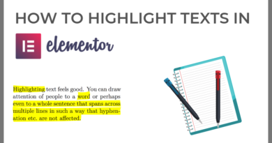 how to highlight texts in Elementor wordpress