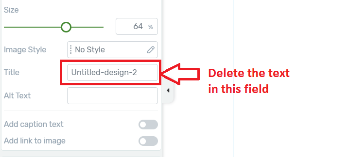 Thrive Architect showing image file name on hover