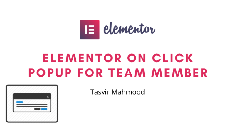 Elementor on click popup for team member in wordpress