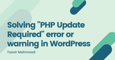 solving php update required error or warning in wordpress